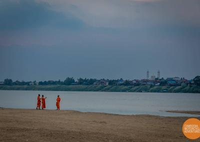 Monks by the Mekong in Kampong Cham